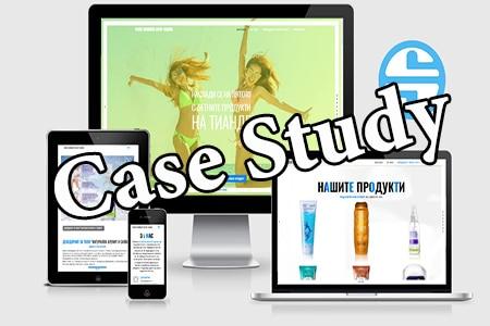 онлайн маркетингова кампания за козметика Тианде - landing страници