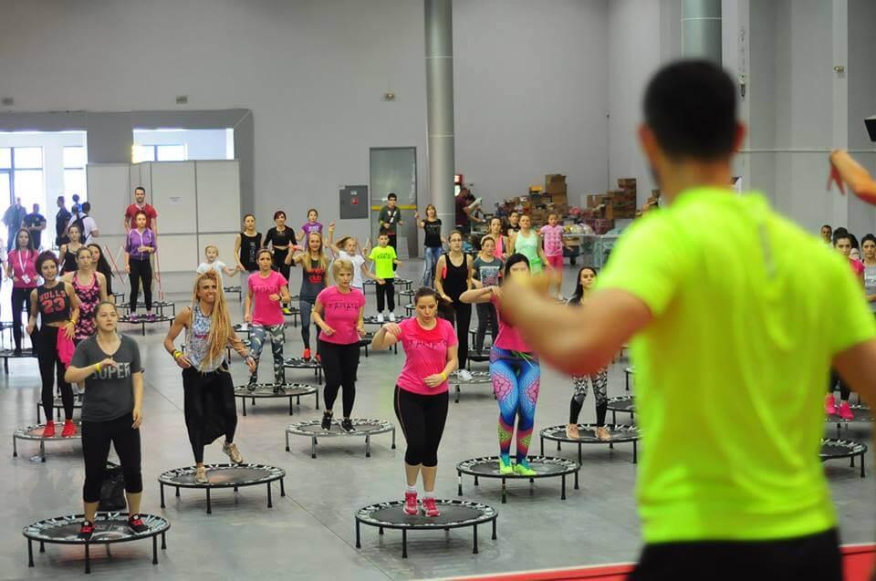 Fit Jumping тренировка на спортния фестивал. Изработка на сайтове за спорт