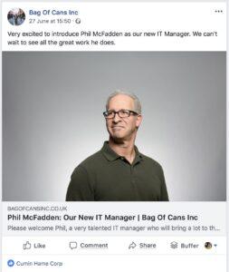 Пример за лоша фейсбук реклама и нисък рийч