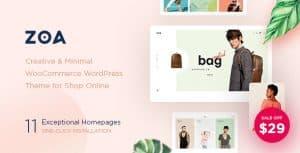 Zoa theme за онлайн магазин на WordPress.